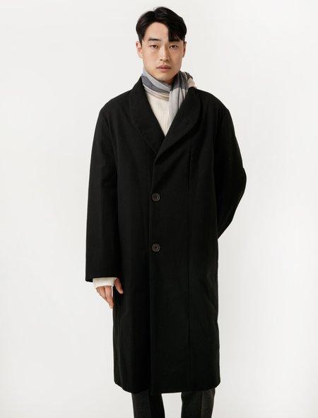 Lemaire Mens Kaftan Coat - Black