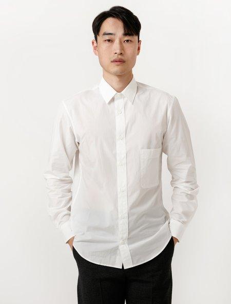 Lemaire Mens Straight Collar Shirt - Chalk