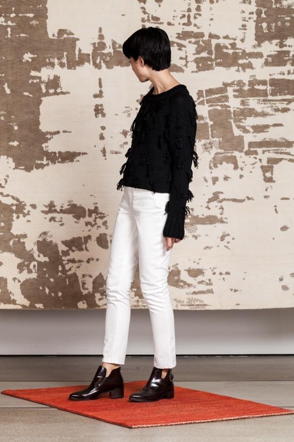 Apiece Apart Highwaist Matchstick Trouser - white