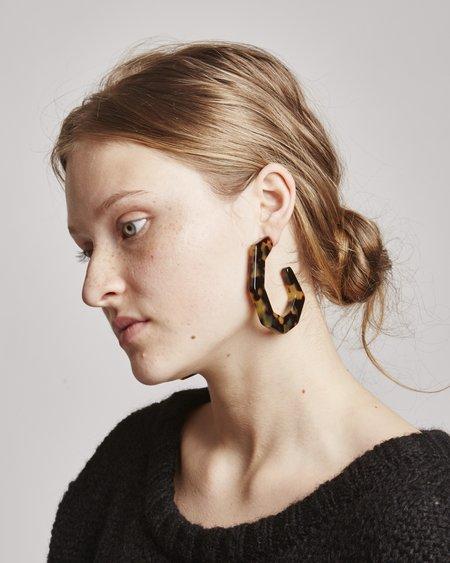 Rachel Comey Factor Earrings In Tortoise