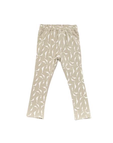 Kid's OMAMImini Skinny Pants w/ Small Narwhals Print Light Grey