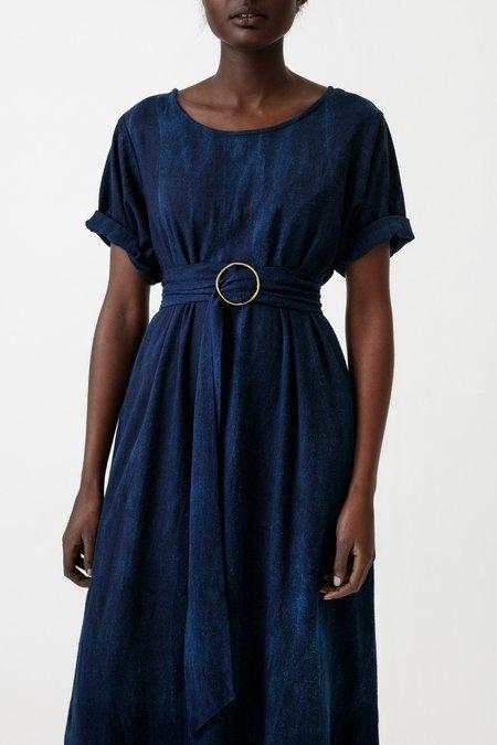 Osei-Duro Nonna Dress - Natural Indigo