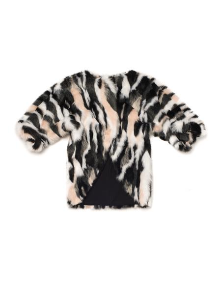 Kid's OMAMImini Faux Fur Coat Pink Himalayan