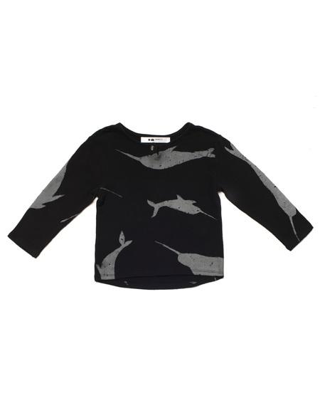 Kid's OMAMImini Knit Henley w/ Print Black