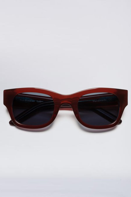 Sun Buddies Acetate Lubna Sunglasses - Red Sea