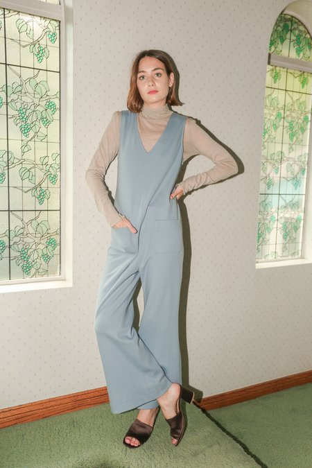 No.6 Roberta V-Neck Jumpsuit in Cloud