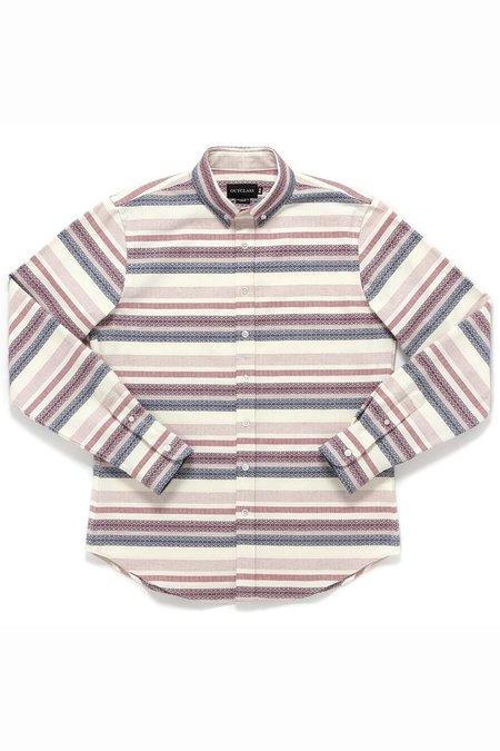 Outclass Multi Pattern Barre Shirt - Wine