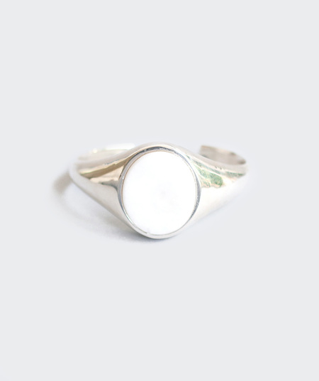 Gabriela Artigas Oval White Carrara Marble Cuff