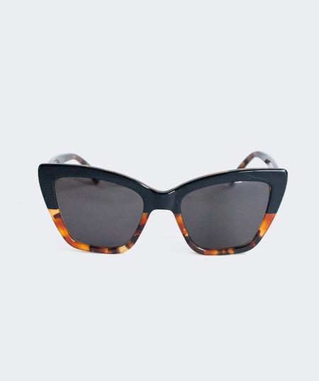 Prism Calvi Sunglasses - Dark Tortoise and Black