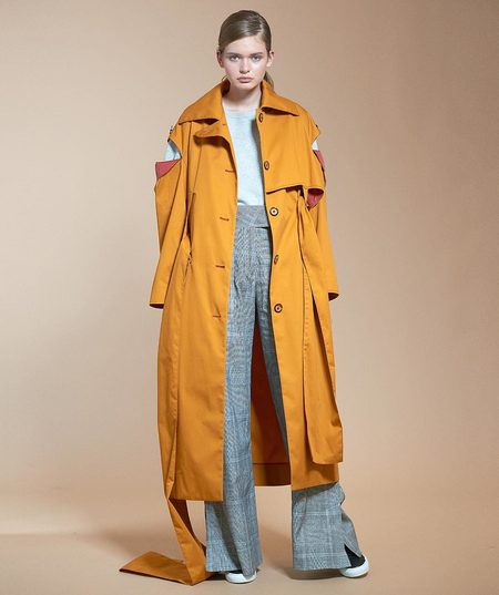 Claudia Li Belted Trench