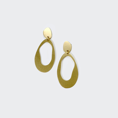 Modern Weaving Large Oval Loop Earrings