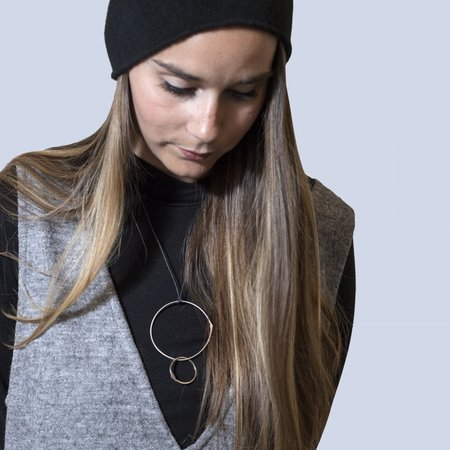 Gabrielle Desmarais Double Circle on Thread Necklace