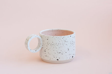 YYY Two Tone White/Peach Speckled Small Mugs