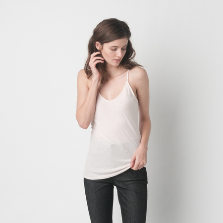 SKIN Pima Cotton Cami in Pearl Pink