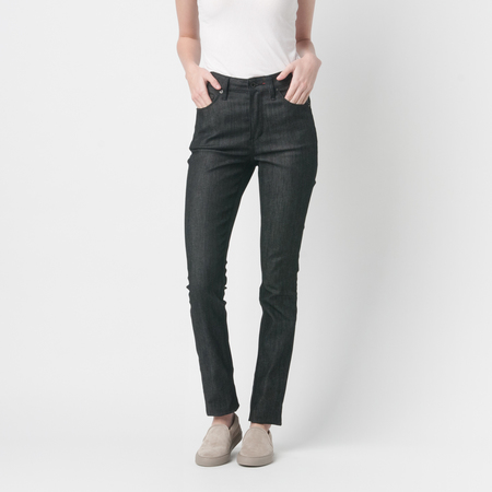RALEIGH DENIM Haywood High Rise in Raw Black
