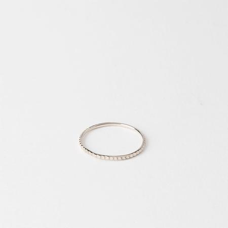 SATOMI KAWAKITA 18K White Gold Petite Gear Ring