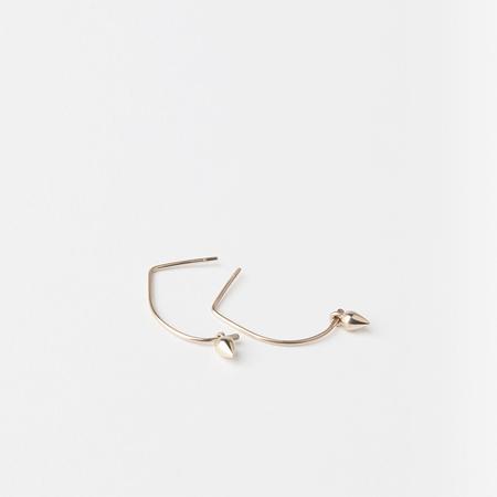CINQ 14K Gold Dew Earrings