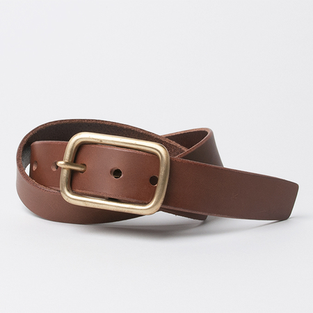 KIKA NY Square Buckle with 1.25 Wide Belt in Brown