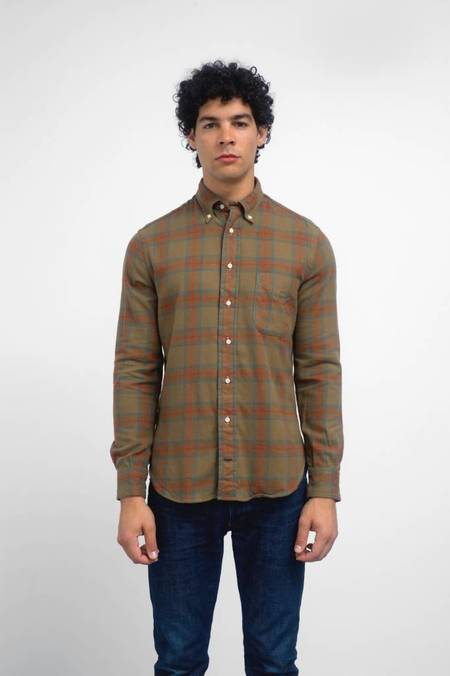 Gitman Vintage Long Sleeve Plains Hunting Plaid Shirt