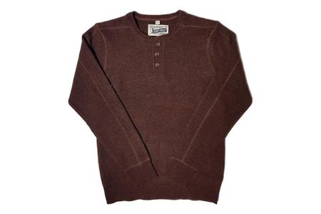 Schott Henley Sweater - Burgundy