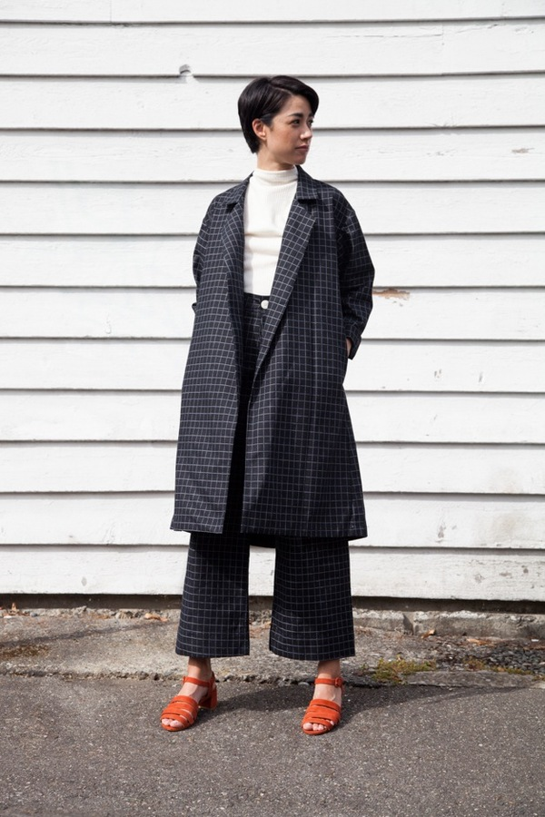 Jesse Kamm Trench Coat | black windowpane