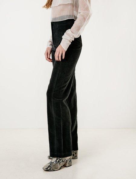 Lemaire Velvet High Waisted Pants - Coal