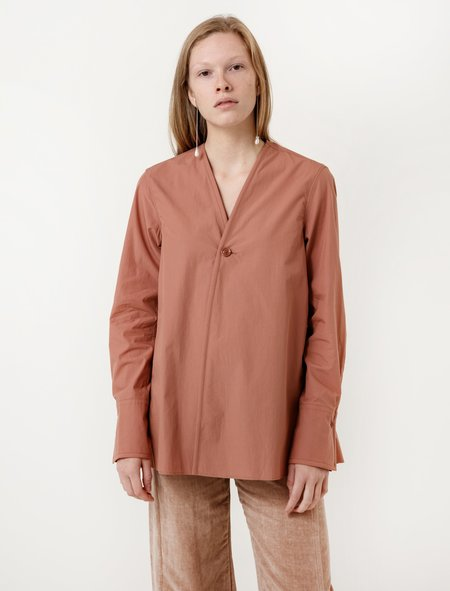 Lemaire Wrapover Shirt - Dusty Pink