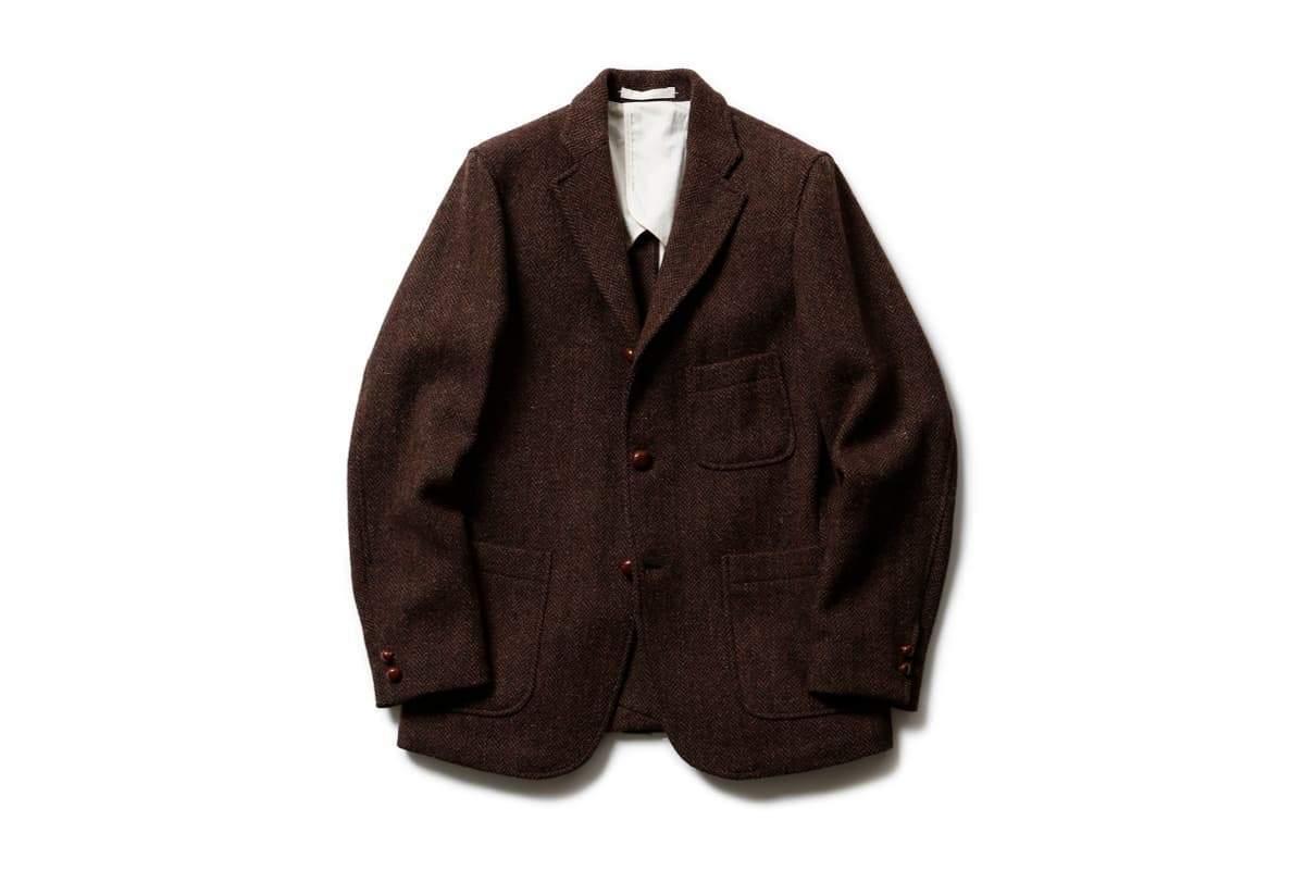 def2f38f41bc2 Beams + Harris Tweed 3B Jacket - Brown Herringbone