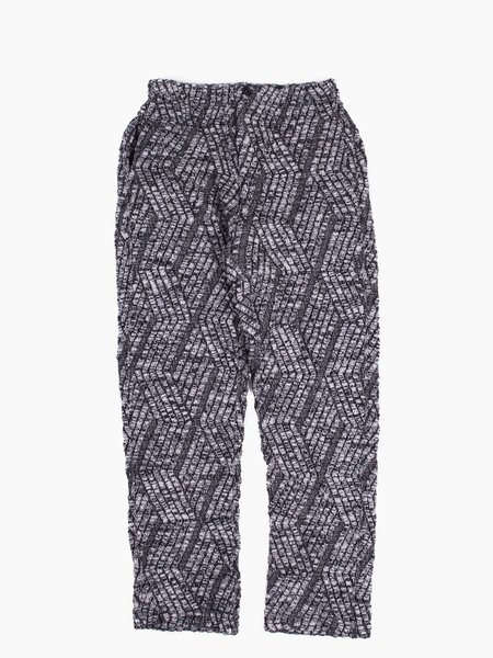 Engineered Garments Knit Track Pant Grey Zigzag Cable Knit