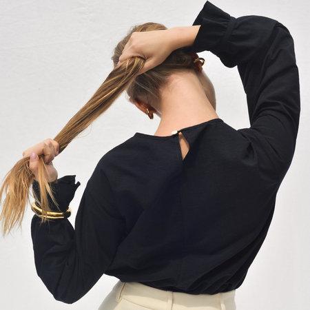 Nikki Chasin Sparta Ruffle Sleeve Top - Black