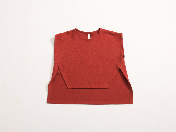 Eve Gravel Westworld Pullover Vest - Brick