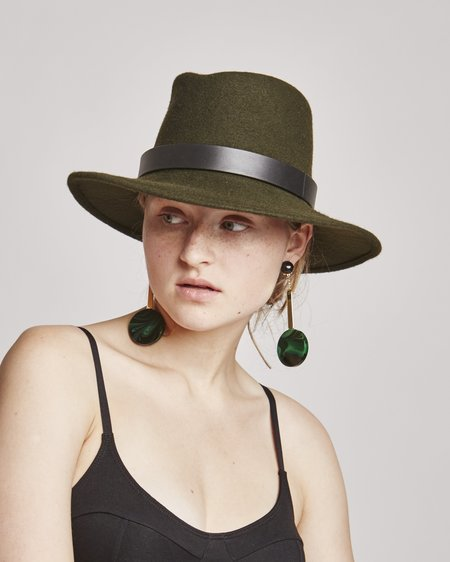 Brookes Boswell Jackson Wool Hat in Loden Green