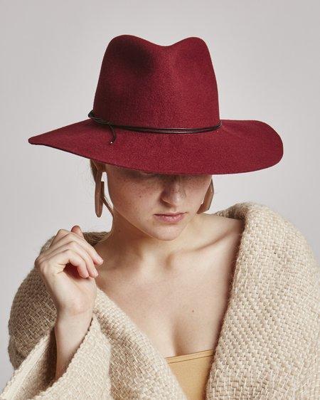Brookes Boswell Wakefield Wool Hat in Wine