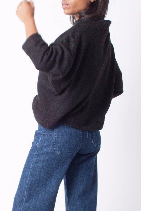 Hackwith Design House Cropped Mockneck Sweater - Black