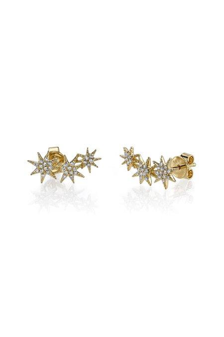 Sachi Jewelry Tripe Starburst Studs