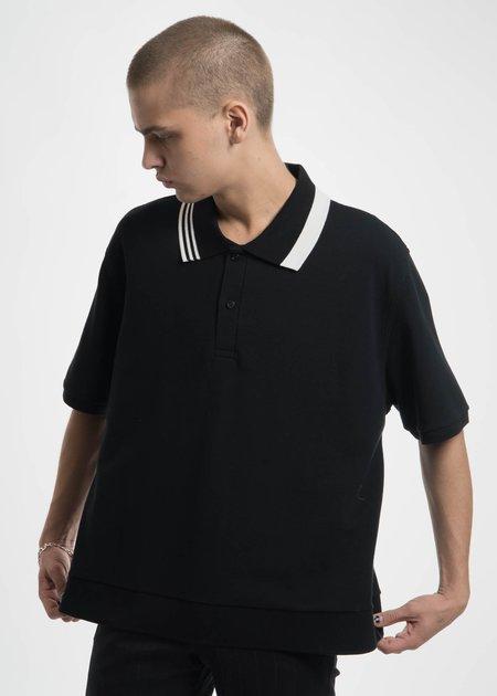 Dressed Undressed Black Oversized Split Collar Polo