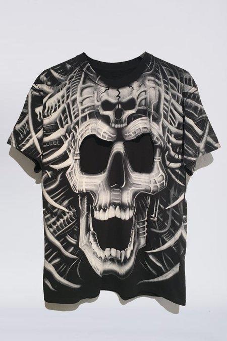 Lyz Olko Cut Out Skull T-Shirt