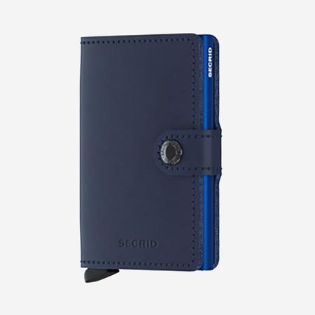 SECRID Mini Wallet - Navy Blue Leather