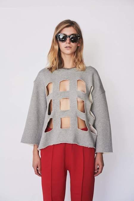 Nancy Stella Soto Cotton Cutout Sweatshirt