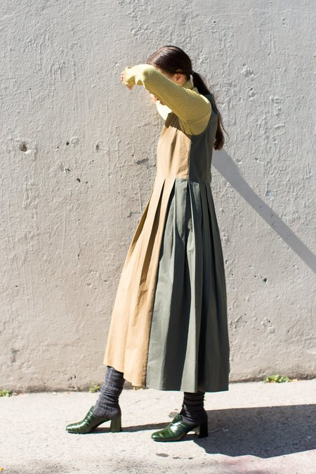 Creatures of Comfort Leaf Dress in Army/Desert