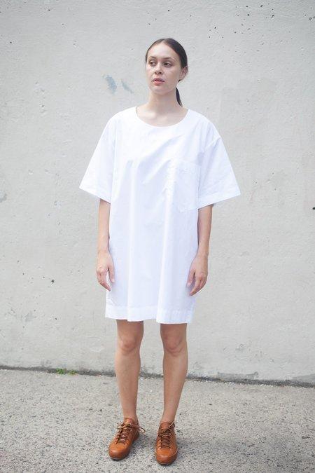 Nancy Stella Soto Poplin Pocket Tee Dress in White