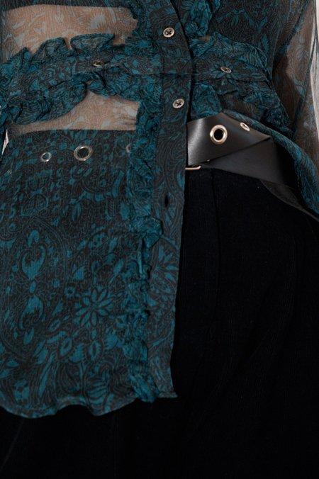 Wynn Hamlyn Leather Eyelet Belt