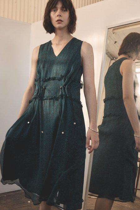 Wynn Hamlyn Silk Ruffle Toggle Dress