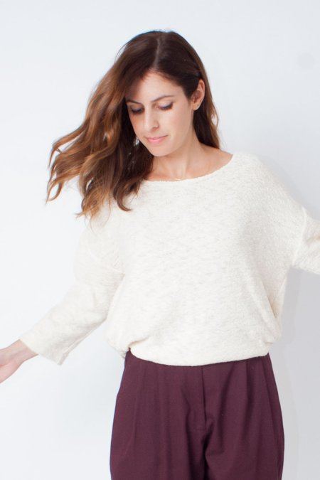 Hackwith Design House Knotted Sweater - Cream