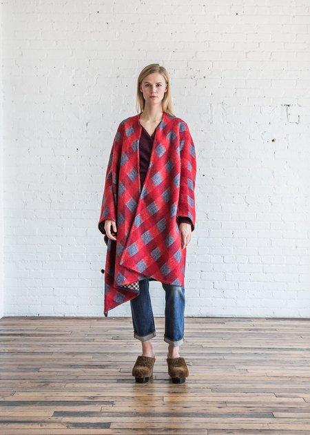 A Détacher Carrick Cape Plaid Wool