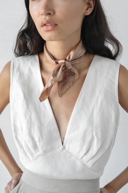 Nikki Chasin Greco V-Neck Top in Pearl