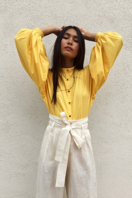 OR Yellow Blouson Top
