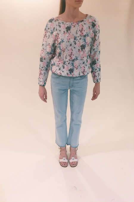 Ambali Paris flower print top