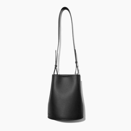 Creatures Of Comfort Black Saddle Small Bucket Bag