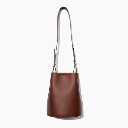 Creatures Of Comfort Dark Brown Saddle Small Bucket Bag